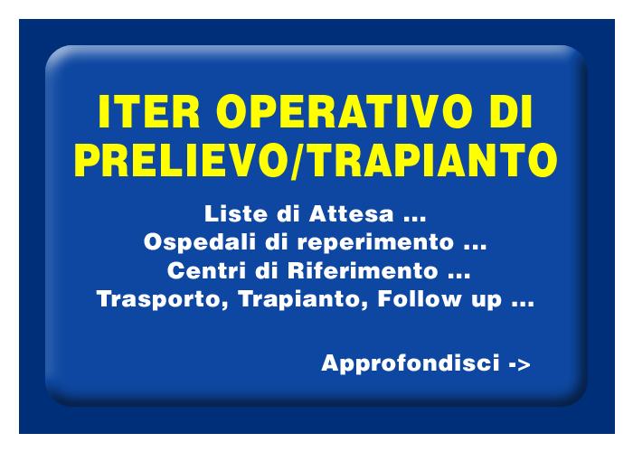 Iter operativo del prelievo e trapianto di organi