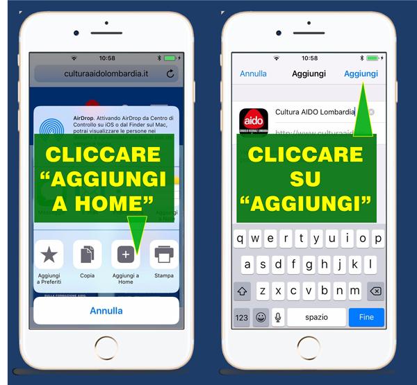 Installazione Web App Cultura AIDO Lombardia - Donazione e trapianto di organi
